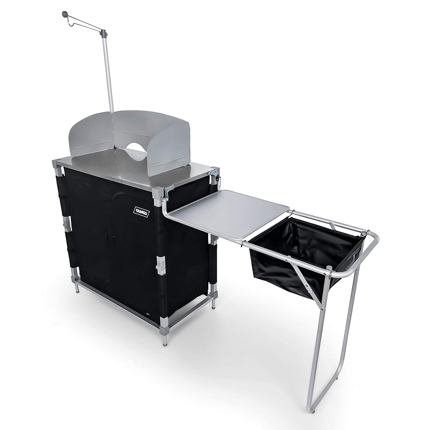 Amazon.com: Camco 51097 Deluxe Camping Kitchen/Grill Table with ...