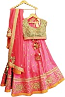 Shreebalaji Creation women's multi_colour Semi-stitched bridal lehengas cholis(MultiColour_Freesize)
