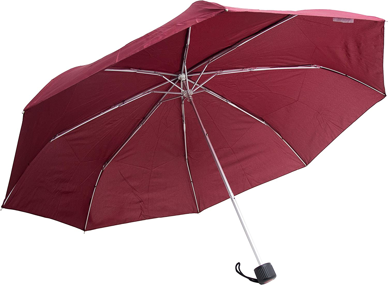Bleu marine 97 cm Raingear Mini parapluie pliable ultra l/éger 7 couleurs Automatique