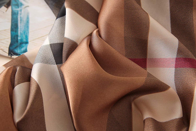 K-ELewon Silk Feeling Scarf Fashion Scarves Long Lightweight Sunscreen Shawls for Women T21