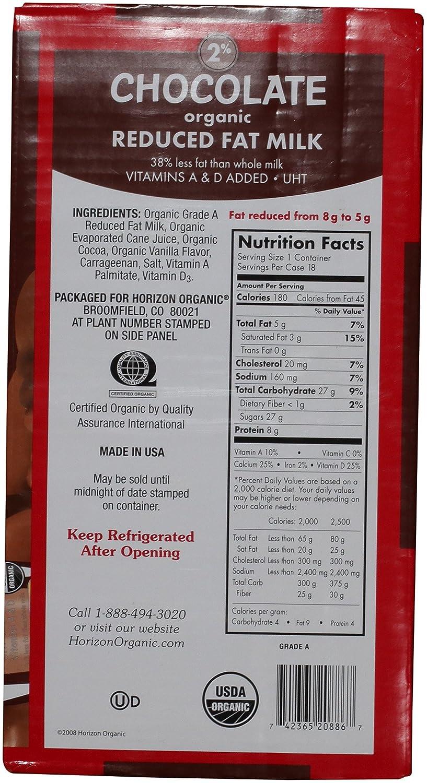 Horizon Organic Low Fat Milk, Chocolate, 8-Ounce Aseptic Cartons ...