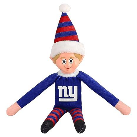 67767d8aabd 14 Inch NFL Giants Team Elf Football Themed Team Color Logo Mens  Collectible Toy Sweatshirt Santa