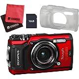 【セット】 OLYMPUS オリンパス コンパクトデジタルカメラ Tough TG-5 ブラック&SD16GB&シリコンジャケット&クロス