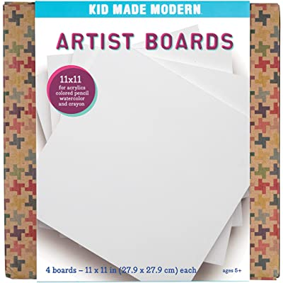 Kid Made Modern Artist Boards - Kids Painting Supplies | 11x11 Each | Set of 4: Toys & Games