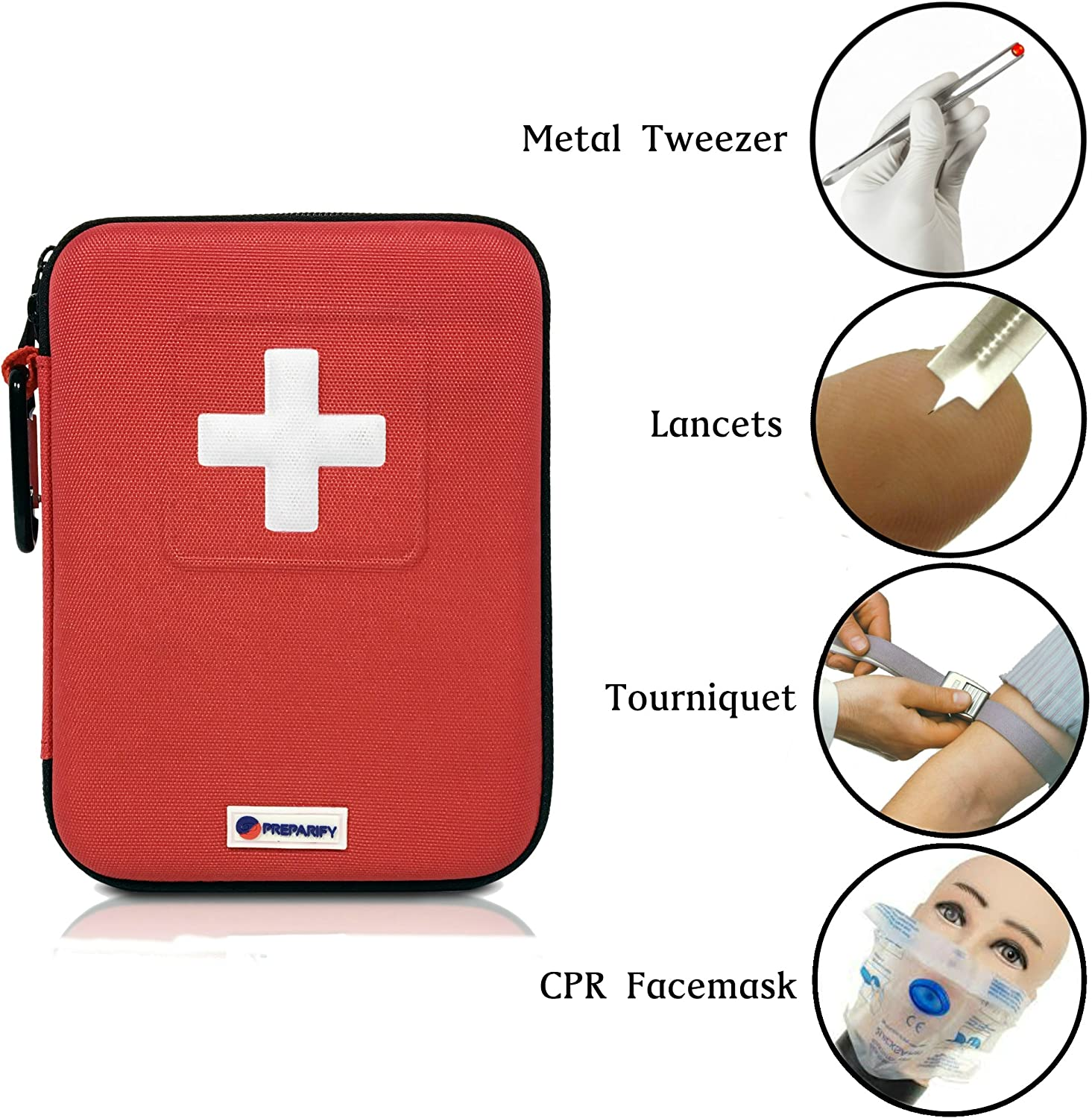 Hiking Preparify First Aid Kit 2-in-1Perfect for Home Campingin Car