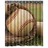 Special Custom Vintage Baseball Mildrew Resistant Shower Curtain 60 X 72