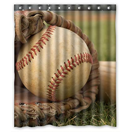 Amazon FMSHPON Vintage Baseball Waterproof Polyester Fabric