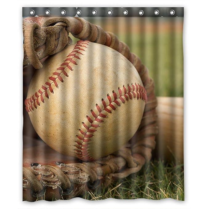 Special Custom Vintage Baseball Mildrew Resistant Shower Curtain 60u0026quot; X  72u0026quot;   Bathroom Decor