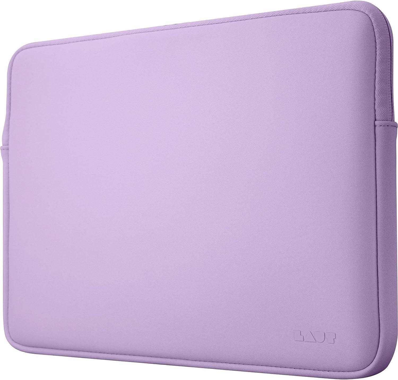 LAUT - HUEX Pastels Protective Sleeve for 13-inch MacBook Pro, MacBook Air, Laptop, Notebook, iPad   High Density Neoprene Fabric   Fluffy Faux Fur   Internal Zipper Guards • Violet