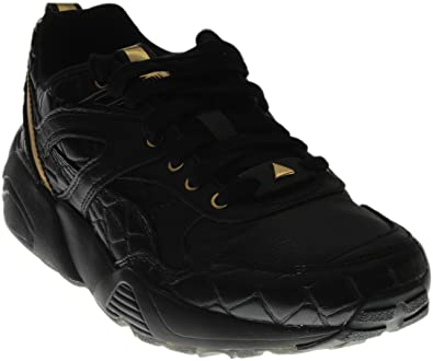 326a6687c1e2 Puma Women s R698 Exotic Black Gold (8)  Amazon.co.uk  Shoes   Bags