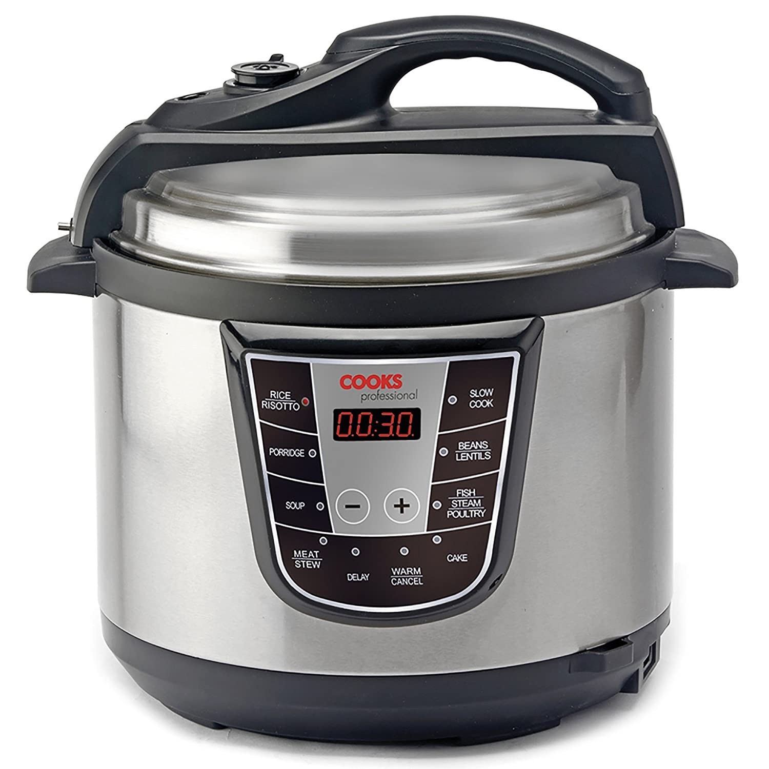 8-in-1 Electric Pressure Cooker with 5 Litre Stainless Steel Cooking Pot, 900W by Cooks Professional