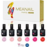 SET Gel Polish MEANAIL ® PARIS : cofanetto di 6 Gel Polish Semi Permanenti NUANCE : Pinky