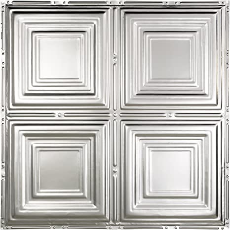 Great Lakes Tin Syracuse Unfinished Nail Up Ceiling Tiles Package Of Five 2ft X 2ft Panels Choose From 11 Styles Perfect For Diy And Home Renovation Projects Easy