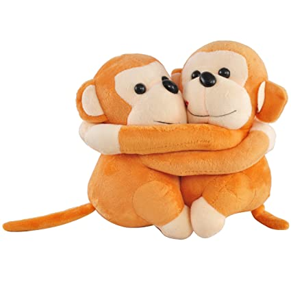 Buy Chords Plush Brown Monkey couple soft toy Online at Low Prices ...