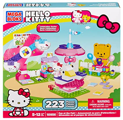 94862ecd87b1 Amazon.com  Mega Bloks Hello Kitty Fun At The Fair  Toys   Games