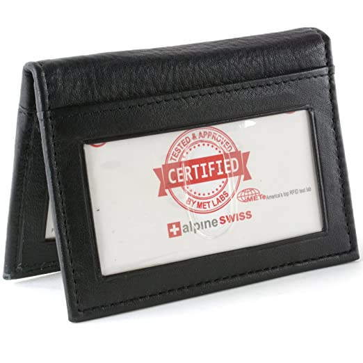 Rfid blocking leather business card case 2 id windows 6 credit card rfid blocking leather business card case 2 id windows 6 credit card slots wallet reheart Images