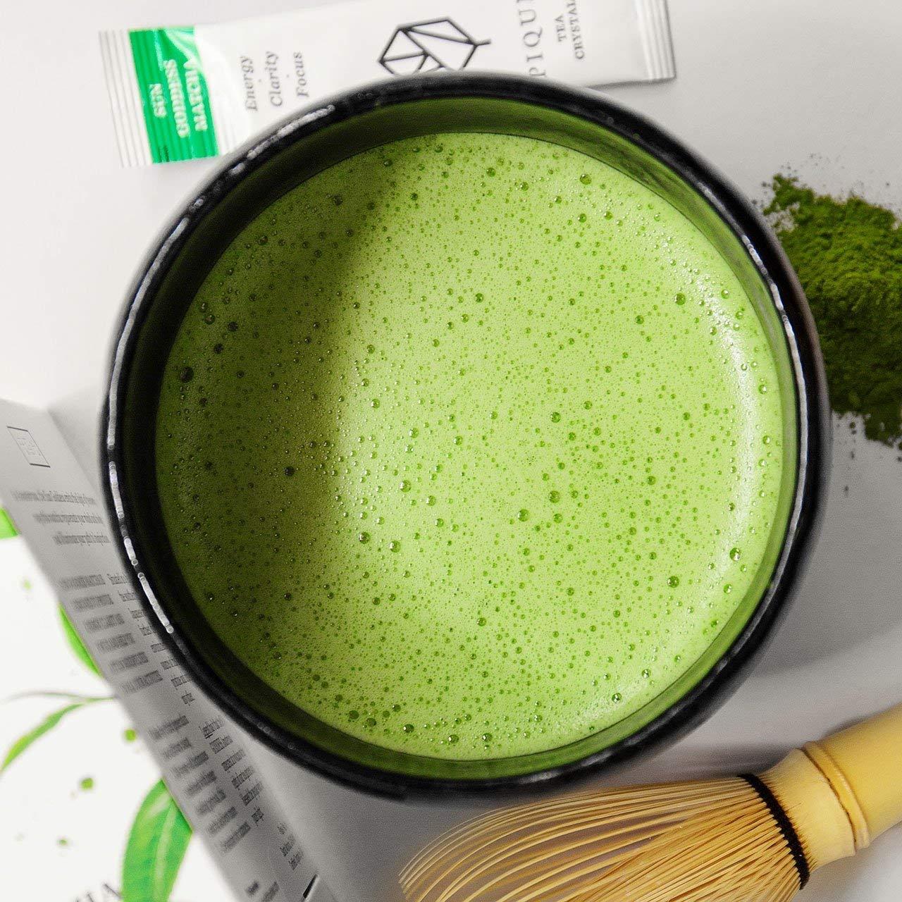 Pique Tea Organic Sun Goddess Matcha Green Tea - Energy, Calm, Mindfulness - 1 Pack (28 Sticks) by PIQUE