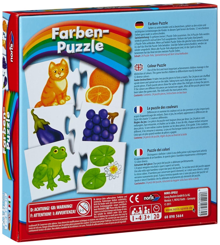 Reise Noris 608985664 Farben Puzzle und Mitbringspiel