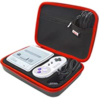 SNES Classic Mini Funda , EVA Estuche Dura de Transporte Case Carcasa ,Portátil Impermeable Bolsa para Super Nintendo Classic Mini Consola,Mandos,Cable de extensión y más Accesorios