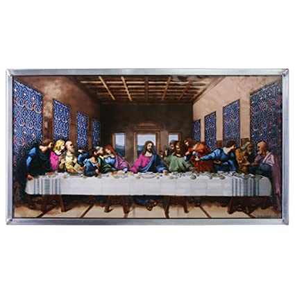 Amazon Com Stained Glass Panel Da Vinci The Last Supper Stained