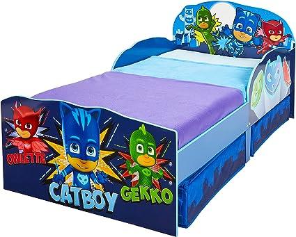 Hello Home Cama Infantil de Madera con Cajón Inferior, Azul Marino, 142 x 77 x 63 cm