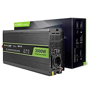 Green Cell® 2000W/4000W Onda sinusoidal modificada Inversor de ...
