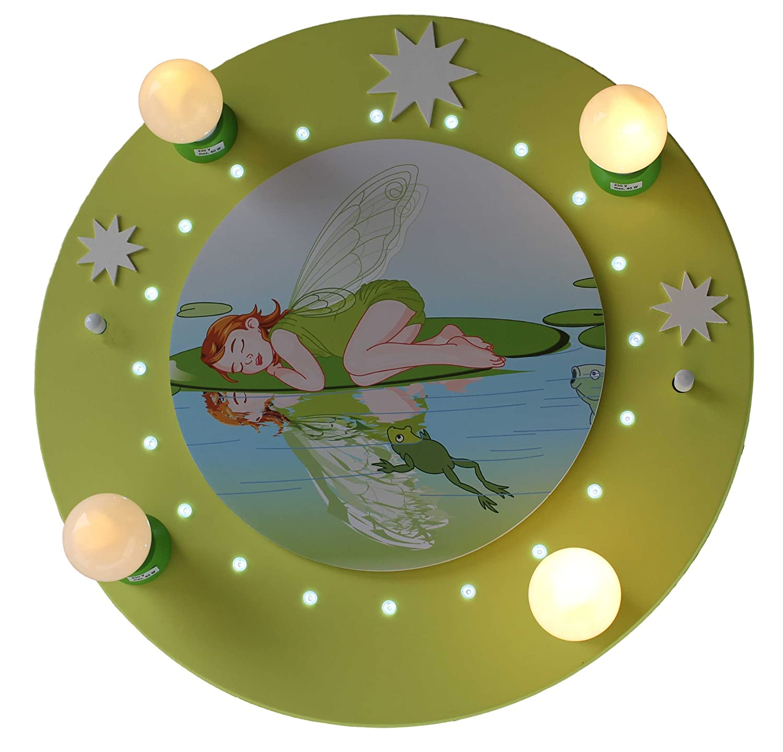 LED Schlafende Fee grün 4er Deckenlampe elobra 126523