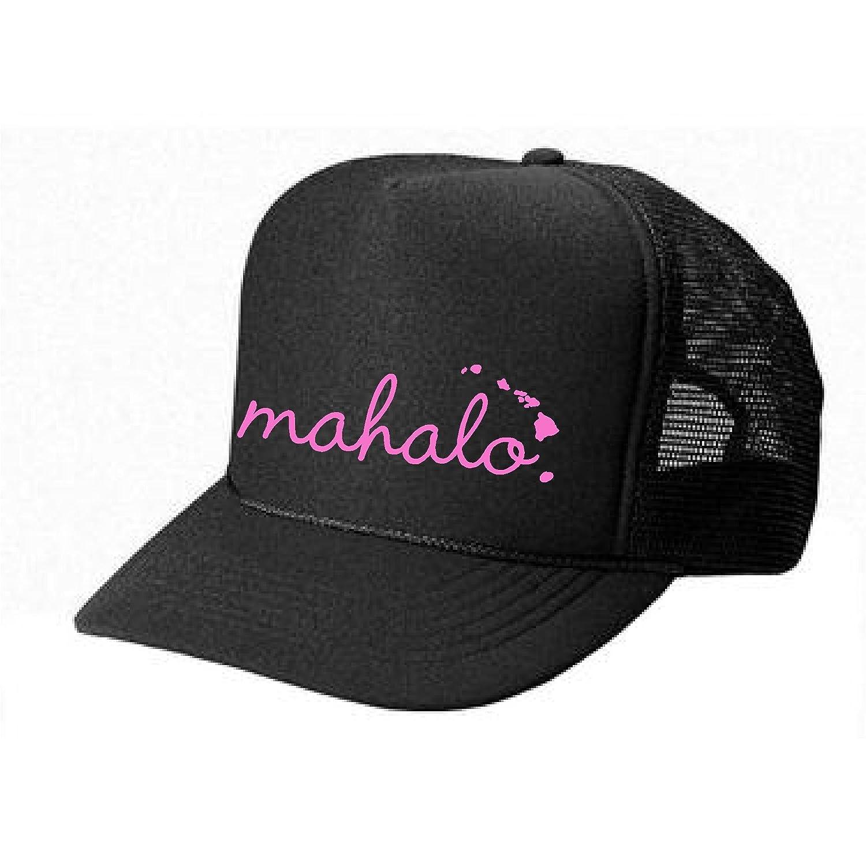 2152b7f4d84 Epic Designs Hawaii Honolulu Hat - Mahalo - Cool Stylish Apparel accessories  (Black-Gold Print) at Amazon Women s Clothing store