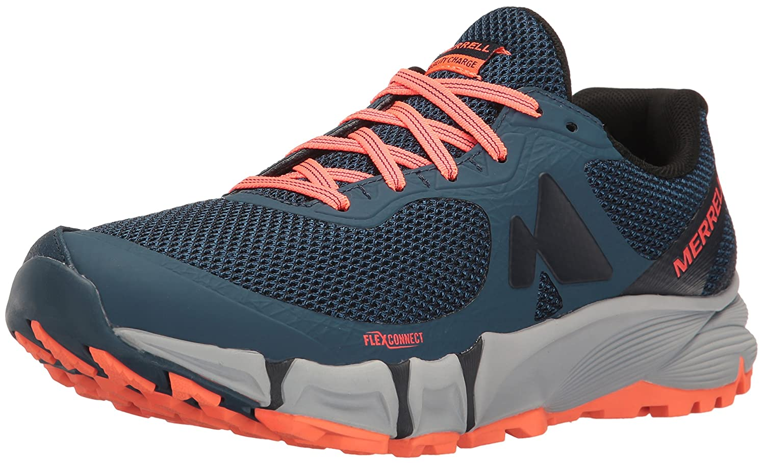 Merrell Women's Agility Charge Flex Trail Runner B01HHA1T00 8 B(M) US|Navy