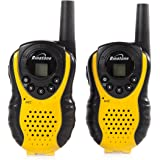 Binatone Latitude 100 Twin Black/Yellow Walkie Talkie - Upto 3 km Range Depending On Environment/Terrain,Volume Control,Ergonomic Design,Belt Clip And Low Battery Indicator.Ideal For Hiking,Skiing And All Outdoor Uses