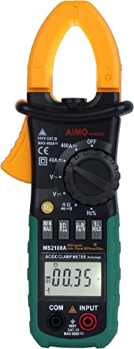 MS2108A Auto Range Digital Clamp Meter 400 AC DC Current Hz Tester