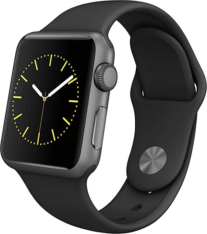 Apple Watch Series 1 Smartwatch 42mm, Space Gray Aluminum Case/ Black Sport Band (Newest Model) (Renewed)
