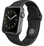 Apple Watch Series 1 Smartwatch 42mm Space Gray Aluminum Case, Black Sport Band (Newest Model) (Certified Refurbished)