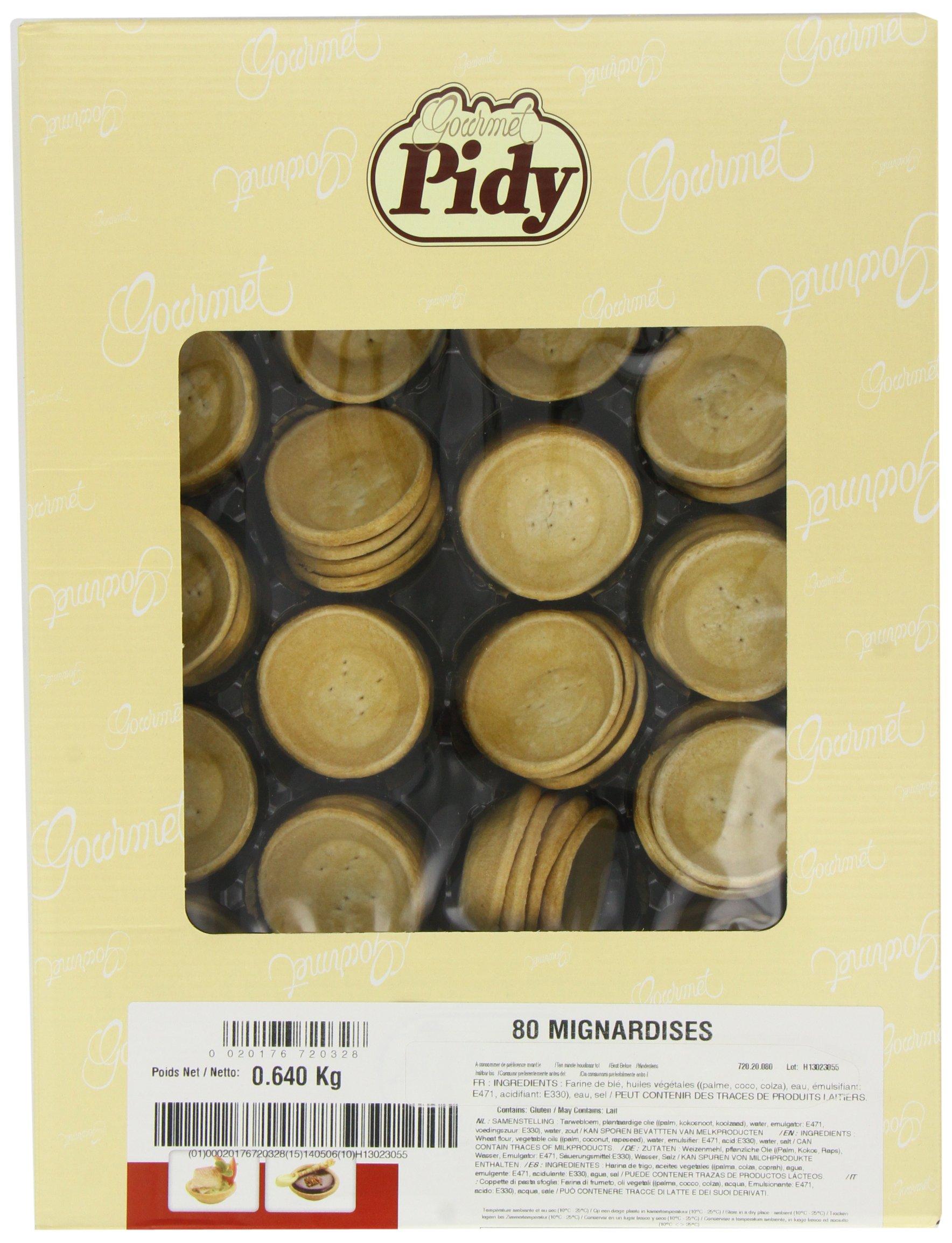 Pidy Mignardise Feuilletee Savoury Tartlet, 6 cm - 80 Portions