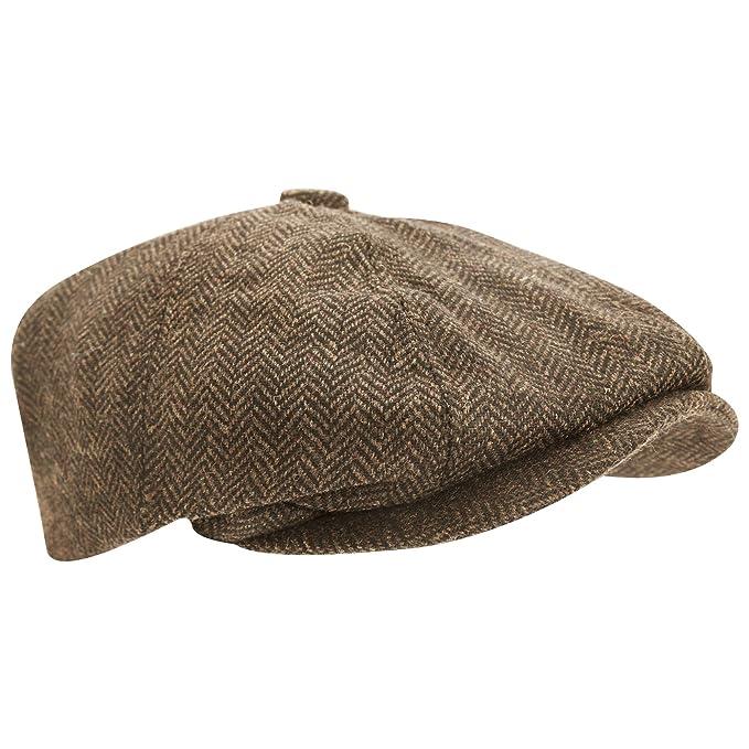 Universal Textiles Mens Wool Blend Herringbone 8 Panel Newsboy Cap  Amazon. ca  Clothing   Accessories 3cebc6c6e318