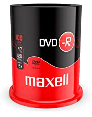 DVD-R vergini 275611 Maxell 16X, 4,7GB in campana da 100 pezzi