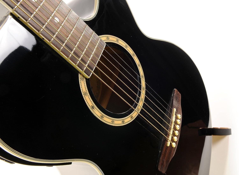 Ashton SL29CEQBK - Guitarra acústica con cuerdas metálicas ...