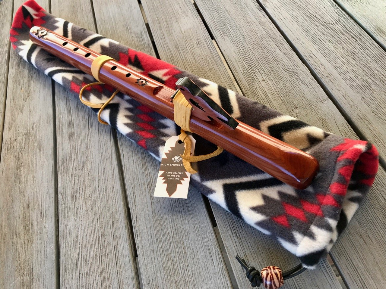Native American Flute Package - Aromatic Cedar, Key of A (with Bag) High Spirits and Kalani Music