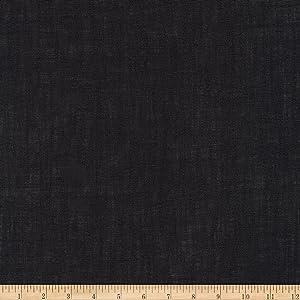 Robert Kaufman Limerick 100% Linen Fabric by The Yard Black