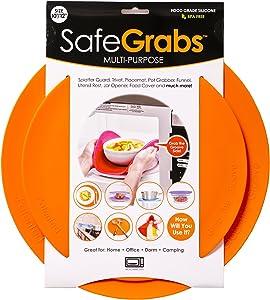 Multi-Purpose Silicone - Original Microwave Mat from Shark Tank | Splatter Guard, Trivet, Hot Pad, Pot Holder, Minimize Mess (BPA-Free, Heat Resistant, Dishwasher Safe), Set of 2, Orange