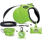 Ruff 'n Ruffus Retractable Dog Leash with Free Waste Bag Dispenser and Bags + Bonus Bowl | Heavy-Duty 16ft Retracting…
