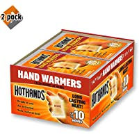 $87 » HotHands Hand Warmers - Long Lasting Safe Natural Odorless Air Activated Warmers - Up to 10 Hours of Heat - 40 Pair