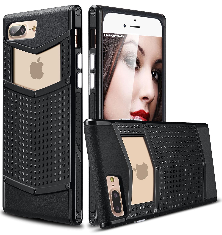 newest 3d530 fc0fc iPhone 8 Plus Case, iPhone 7 Plus Case, Ansiwee Anti-Slip Shockproof Armor  iPhone 7 Plus Protective Defender Case Slim Fit Non-Slip Grip Rubber Bumper  ...
