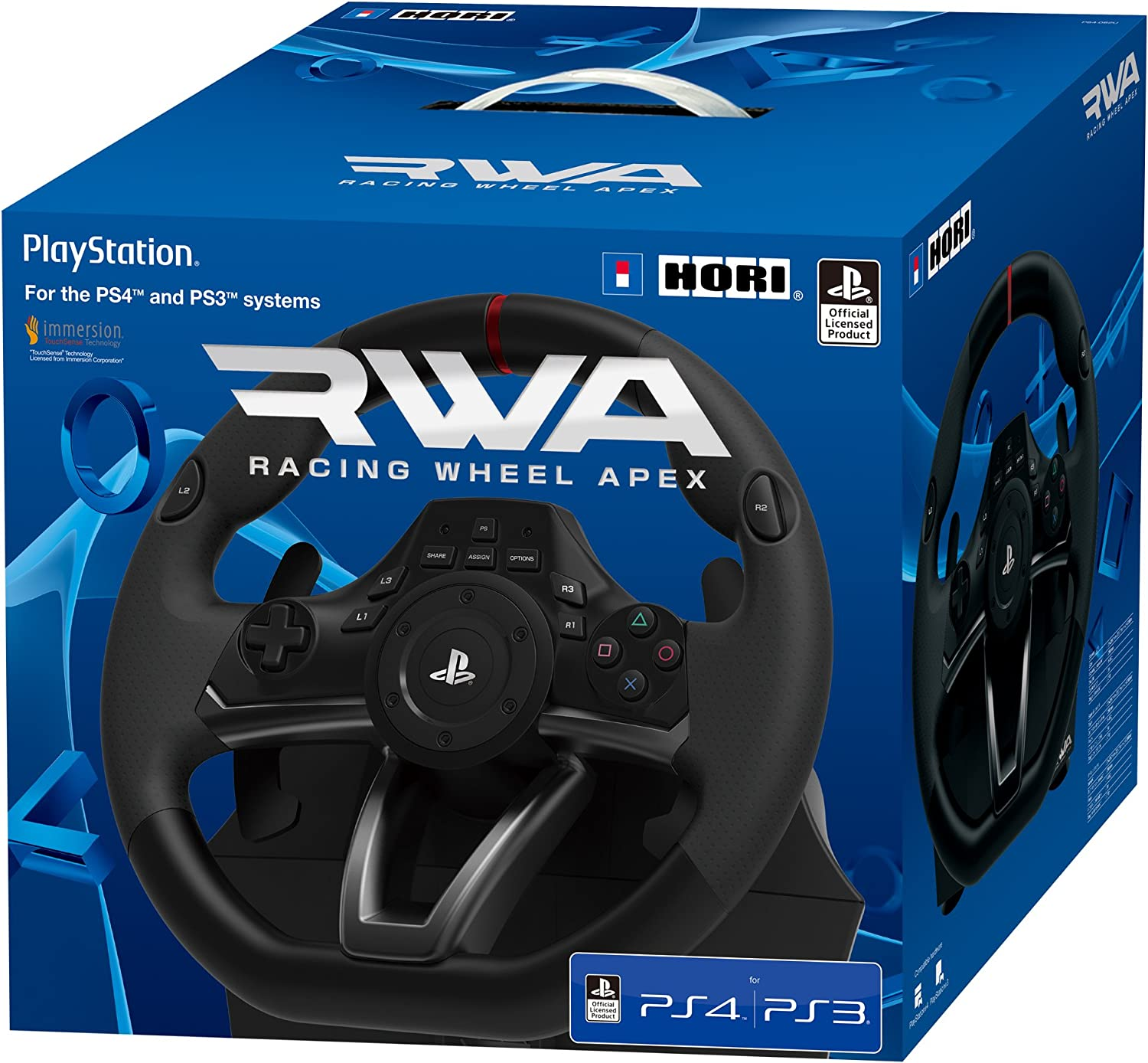Amazon.com: HORI Racing Wheel Apex for PlayStation 4/3, and ...