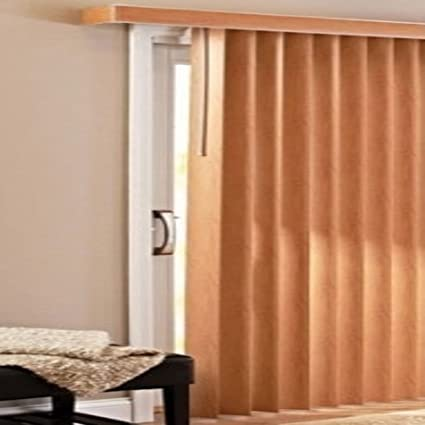 Patio Doors Vertical Blinds, Oak
