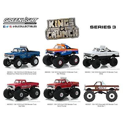 GreenLight 1: 64 Kings of Crunch Series 3-6 Assorted Monster Trucks: Toys & Games