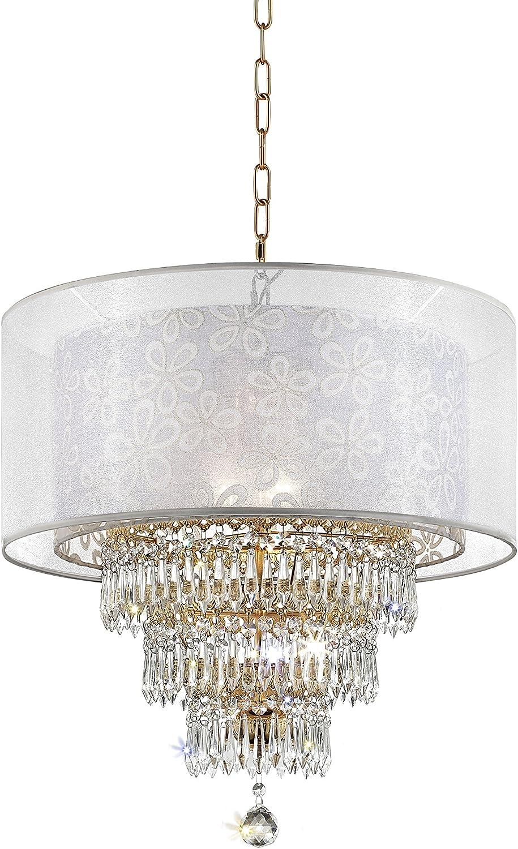 OK LIGHTING OK-5149H Moiselle Ceiling Lamp White NEW