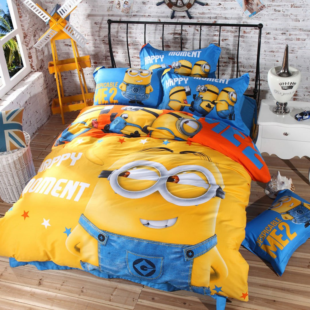 Minion Bedroom Amazoncom Minion Bedding Set Twin Queen And King Size Queen