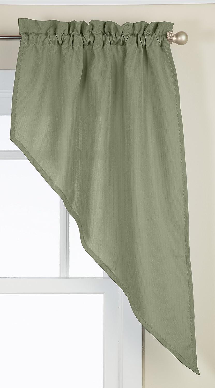 Lorraine Home Fashions Ribcord Swag Pair, 54-Inch x 38-Inch, Sage