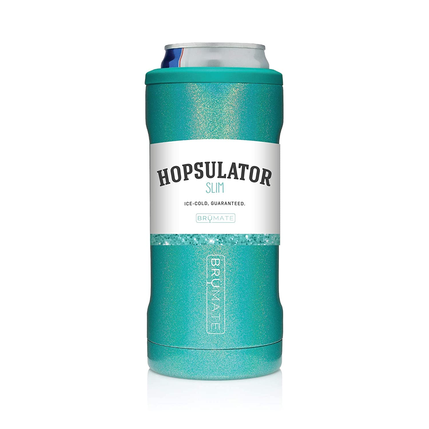 BruMate Hopsulator Slim Insulated Can Cooler for 12oz slim cans (Aqua)